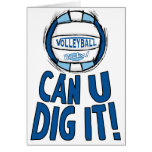 Can U Dig It Volleyball Blue Lt Blue Cards