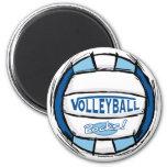 Can U Dig It Volleyball Blue Lt Blue Fridge Magnet