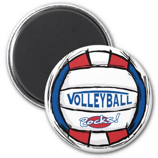 Can U Dig It Volleyball Blue Red Refrigerator Magnets
