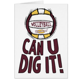 Can U Dig It Volleyball Greeting Card