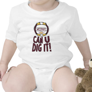 Can U Dig It Volleyball Baby Bodysuit