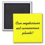Can vegetarians eat carnivorous plants? refrigerator magnets