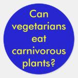 Can vegetarians eat carnivorous plants? sticker