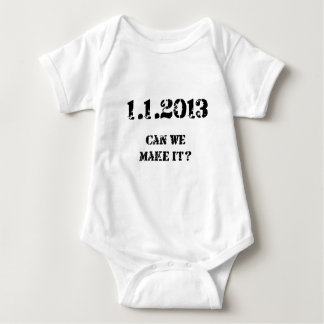 Can we make it? baby bodysuit