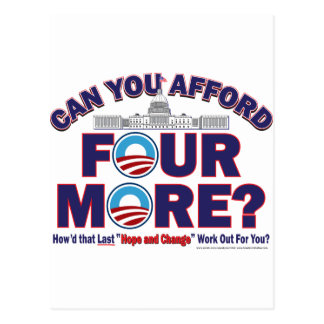 Can You Afford Four More Postcard