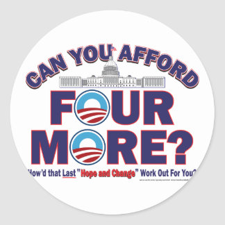 Can You Afford Four More Sticker