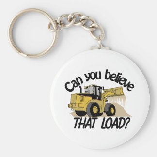 Can You Believe Basic Round Button Keychain