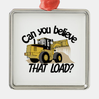 Can You Believe Square Metal Christmas Ornament