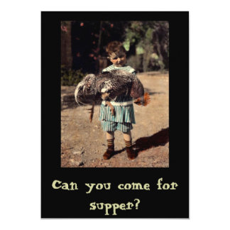 Can You Come For Supper? Card