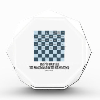 Can You Complete The Second Half Of The Chessboard Acrylic Award