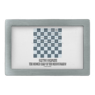 Can You Complete The Second Half Of The Chessboard Belt Buckle