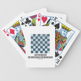 Can You Complete The Second Half Of The Chessboard Bicycle Playing Cards
