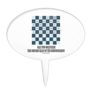 Can You Complete The Second Half Of The Chessboard Cake Topper