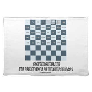 Can You Complete The Second Half Of The Chessboard Cloth Placemat