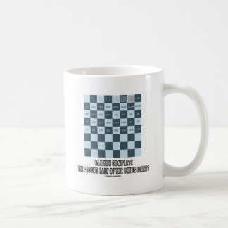Can You Complete The Second Half Of The Chessboard Coffee Mug