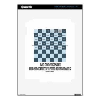 Can You Complete The Second Half Of The Chessboard iPad 3 Decal