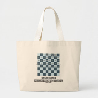 Can You Complete The Second Half Of The Chessboard Large Tote Bag