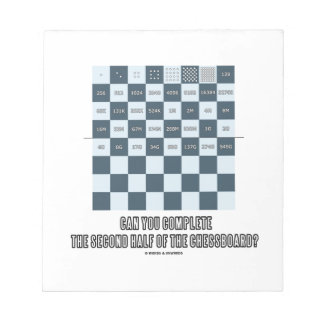 Can You Complete The Second Half Of The Chessboard Notepad