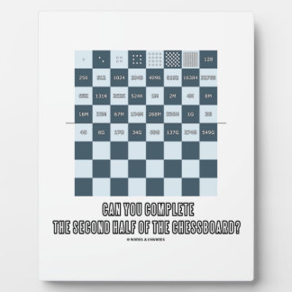 Can You Complete The Second Half Of The Chessboard Plaque
