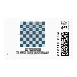 Can You Complete The Second Half Of The Chessboard Postage Stamp
