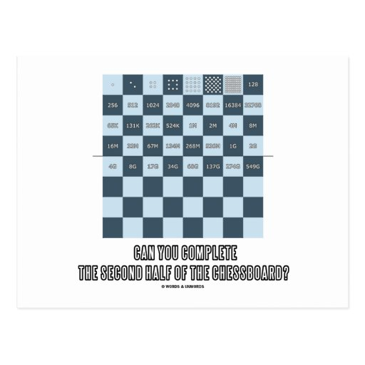 Can You Complete The Second Half Of The Chessboard Post Cards