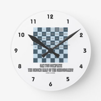 Can You Complete The Second Half Of The Chessboard Round Clock