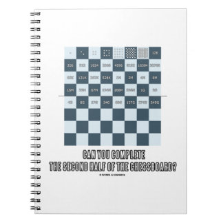 Can You Complete The Second Half Of The Chessboard Spiral Notebook