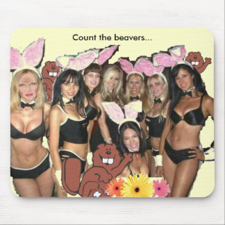 Can you count the beavers? mouse pad