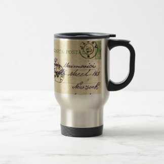 Can you decipher this vintage writing? 15 oz stainless steel travel mug