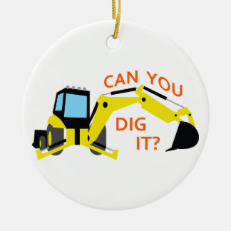Can You Dig It? Double-Sided Ceramic Round Christmas Ornament