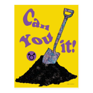 Can you dig it! postcard