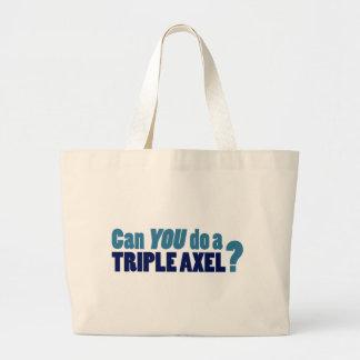 Can YOU do a triple axel? Canvas Bag
