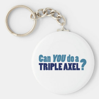 Can YOU do a triple axel? Keychain