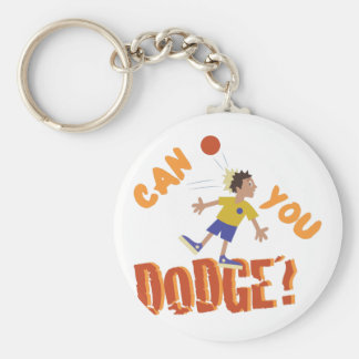 Can You Dodge? Basic Round Button Keychain