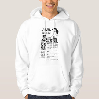 Can you draw? Vintage Ad Hoodie
