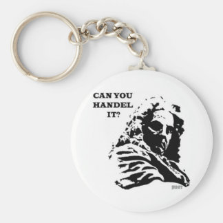 Can You HANDEL It? Basic Round Button Keychain