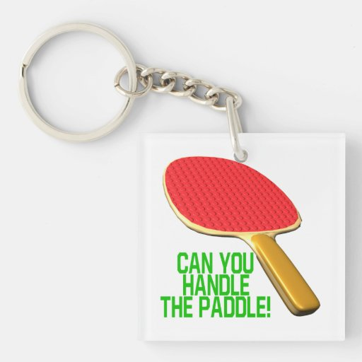 Can You Handle The Paddle.png Square Acrylic Key Chain