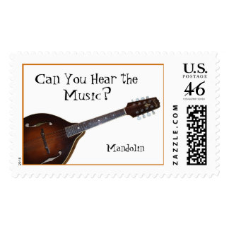 Can You Hear the Music - Mandolin Postage Stamps