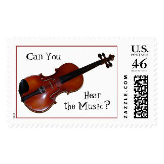 Can You Hear the Music - Violin Postage Stamps