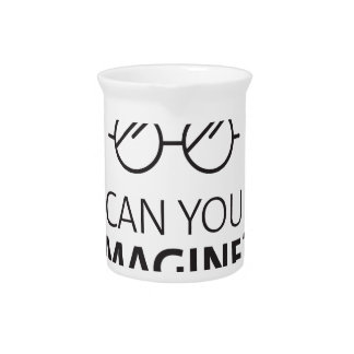 Can You Imagine English World Peace John Song Beverage Pitcher