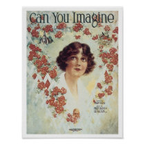 Can You Imagine Vintage Songbook Cover Poster