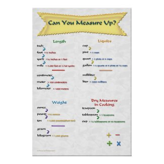 Can You Measure Up Poster print