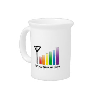 CAN YOU QUEER ME NOW - png Beverage Pitchers