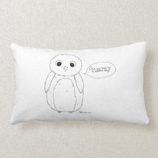 Can you read me a bedtime story? owl kudde. lumbar pillow