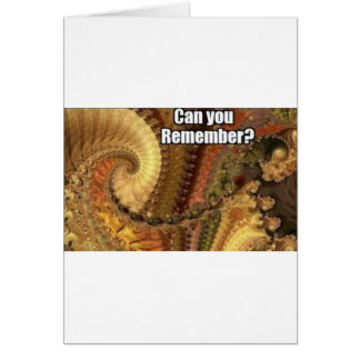 Can you remember? greeting card
