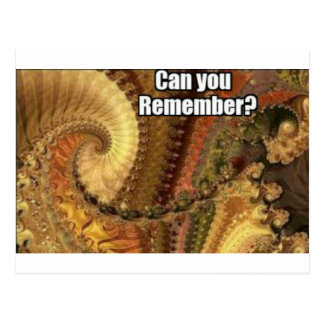 Can you remember? postcard