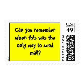 Can you remember when this was the only way to ... postage