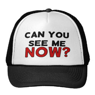 CAN YOU SEE ME NOW? TRUCKER HAT