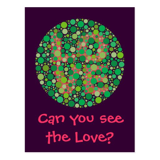 Can You See the Love? Postcard
