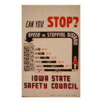 Can You Stop? Iowa State Safety Council Vintage